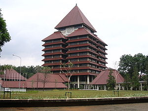 Rectorate, University of Indonesia's main buil...