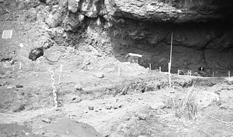 Fort Rock Cave - University of Oregon archaeological excavations at Fort Rock Cave, 1966
