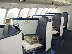 Zodiac Seats U.S. - Delta Air Lines Boeing 747-400 BusinessElite seats, manufactured by the company