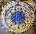 Urbino, bottega fontana, piatto a raffaellesche con raccolta della manna (da hans s. beham), 1565-75 ca..JPG