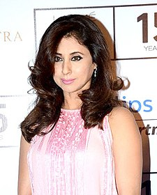 Urmila Matondkar at The Gentlemen's Club Collection show (cropped).jpg