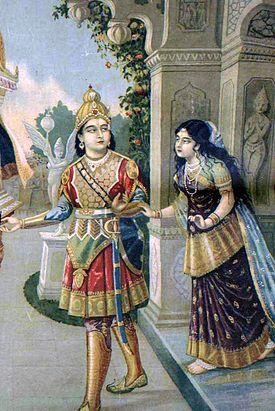 Lukisan Utari dan Pangeran Abimanyu