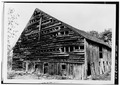 VIEW FROM SOUTHWEST - Johannes Decker Barn, Wallkill, Ulster County, NY HABS NY,56-SHWA,3A-2.tif