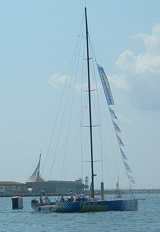 2008–09 Volvo Ocean Race - Telefonica Blue in Alicante, Spain.