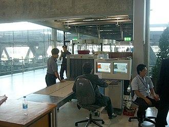 Airport security - Baggage screening monitoring at Bangkok Suvarnabhumi Airport