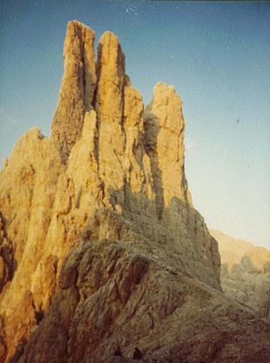 Pinnacle (geology) - Image: Vajolett Tuerme