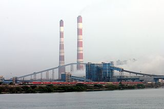 Vallur Thermal Power Station building in India