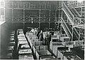 Valtionarkisto 1914. Tutkijasali elokuussa 1914. Pakattuja laatikoita. Kansallisarkisto.jpg
