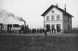 Vasútállomás a Bánságban. Fortepan 17675.jpg