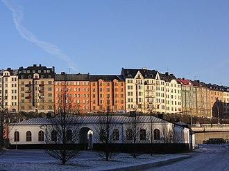 Vasastan, Stockholm - Birkastaden rising tall above Karlberg Palace.