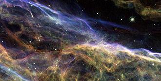 Cygnus Loop - Image: Veil Nebula by Hubble 2007, segment 2
