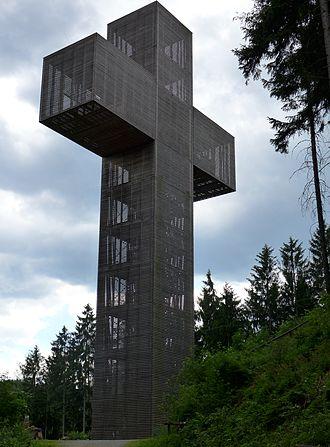 Veitsch Mount of Olives Pilgrims Cross - The pilgrims cross
