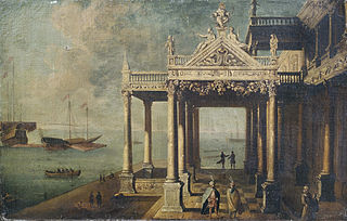 Architecture capriccio (fantasy architecture) in Venetian style