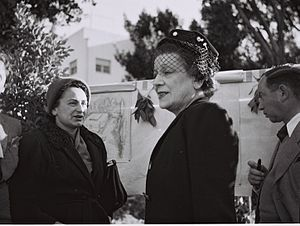Women's International Zionist Organization - Vera Weizman visiting a WIZO nursery in Rehovot in 1946
