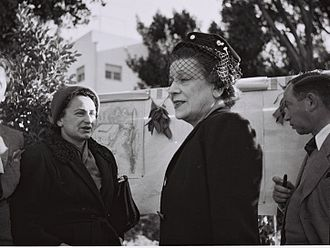 Women's International Zionist Organization - Vera Weizman visiting a WIZO nursery in Rehovot in 1946