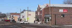 Verdigre, Nebraska - E side Main St N from 5th.JPG