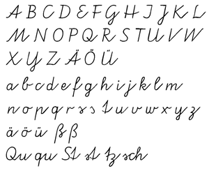 German orthography - Cursive from Germany