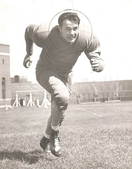 Gagne in the 1940s Verne Gagne - Football University of Minnesota -1946 8x10.jpg