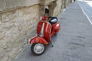 Piaggio - Vespa in a Todi street