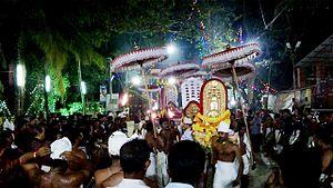 Vettikulangara Devi Temple Cheppad - Koottamkottu during Utsav