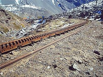 Transandine Railway - Abt rack system used in the line