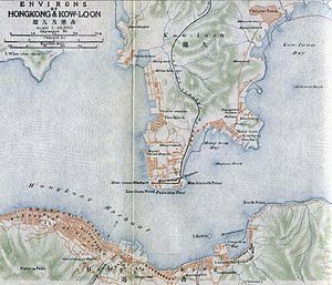 Kowloon - Map of Kowloon in 1915