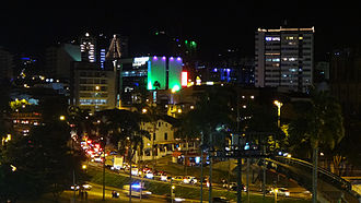 Pereira, Colombia - City Center at night