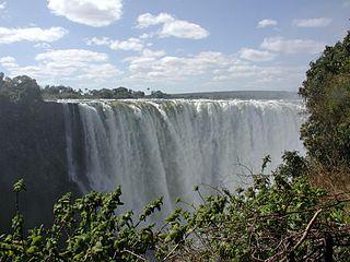 The Victoria waterfalls