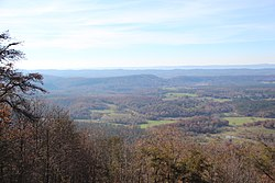 A view of Northwest Georgia from Johns Mountain