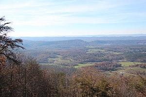 Northwest Georgia (U.S.) - A view of Northwest Georgia from Johns Mountain