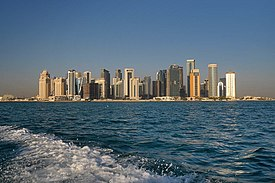 View from a boat of West Bay skyline.jpg