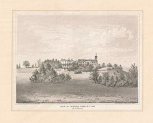 Central Park - View in Central Park NY 1861 Mt. St. Vincent