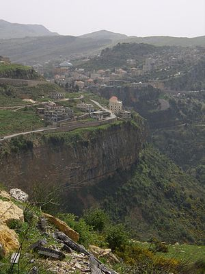 Jezzine - Image: View of Jezzine