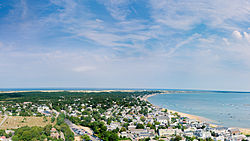 View of Provincetown from Pilgrim Monument looking east, MA, USA - Sept, 2013.jpg