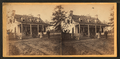 View of a small house with family on porch, from Robert N. Dennis collection of stereoscopic views.png