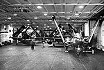 View of the hangar bay of USS Valley Forge (CV-45), in 1951-1952.jpg