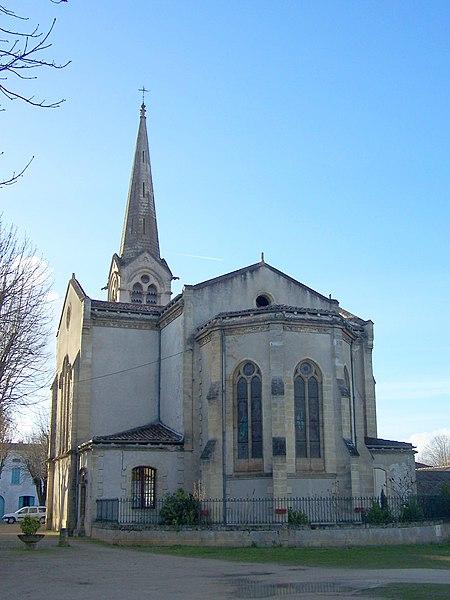 Apsis of the church of Villandraut (Gironde, France)