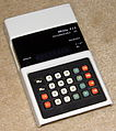 Vintage Miida Electronic Pocket Calculator, Model 828, Rechargeable Batteries, Made In Japan, Circa 1974 (14180739555).jpg