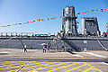 Visitors Leaving ROCN Chong Ping (LST-233) by Rear Gangway 20141123.jpg