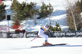 Para-alpine skiing classification - Alexandra Frantseva, a B2 skier from Russia at the 2013 IPC Alpine World Championships at La Molina in Spain