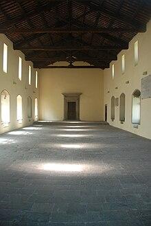 La sala del conclave del Palazzo papale di Viterbo
