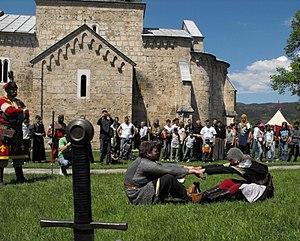 Gradac Monastery - Modern knights of Helen of Anjou.