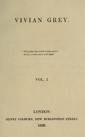 Vivian Grey - First edition title page.
