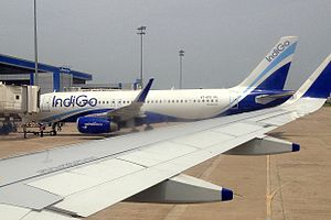 Visakhapatnam Airport - IndiGo Airbus A320 at Visakhapatnam Airport, 2014