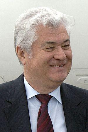 Vladimir Voronin, President of Moldova, during...