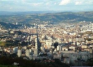 Blick auf Saint-Étienne