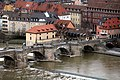 Würzburg, Blick von der Festung Marienberg zur Alten Mainbrücke, Bild 1.jpg
