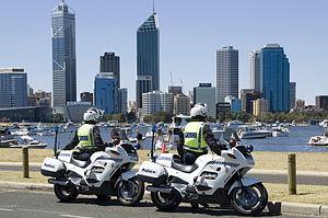 Western Australia Police motorbikes.