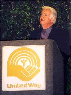 Bob Keeshan - Bob Keeshan speaking for United Way at BOK Tower in Tulsa, Oklahoma, in April 1999