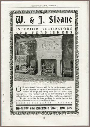 W. & J. Sloane - Image: WJ Sloane Ad From Scribners Magazine Sept 1902